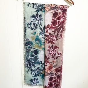 Two Skull Floral Scarfs